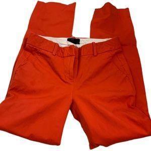 J. Crew red orange stretch cotton khaki pants